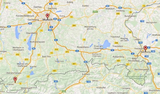 Munich, Garmisch-Partenkirchen, Salzburg, Day Trips, Europe