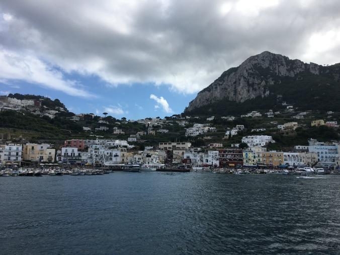 Capri, Italy, Island, cliffs, ferry, boat, sea, Mediterranean,