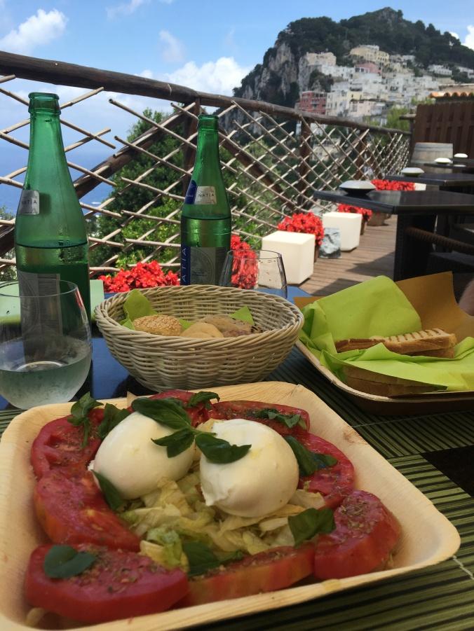 caprese, capri, isle, italy, naples, centrale, eats, salad, fresh